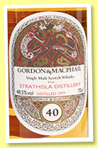 Strathisla 40 yo 1977/2017 (48.5%, Gordon & MacPhail for The Whisky Exchange, Book of Kells, refill American oak hogshead, 191 bottles)