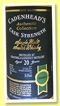 Strathisla-Glenlivet 20 yo 1997/2017 (55.8%, Cadenhead, Authentic Collection, bourbon hogshead, 252 bottles)