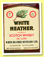 White Heather (70° proof, OB, blend, 1960s)
