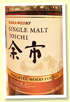 Yoichi 'Moscatel Wood Finish' (46%, OB, 2017)