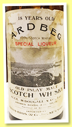 Ardbeg 18 yo (91.3° US proof, OB, USA, Kraus Import New York, 4/5 quart, 1930s)