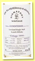 Auchentoshan 15 yo 1999/2015 (46%, Signatory Vintage, Un-chillfiltered Collection, bourbon, casks #800260-800261)