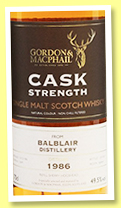 Balblair 1986/2017 (49.5%, Gordon & MacPhail, Cask Strength, for Whisky Show Old & Rare 2017, refill sherry hogshead, cask #12649)