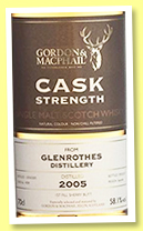 Glenrothes 2005/2017 (58.1%, Gordon & MacPhail, Cask Strength, first fill sherry butt, cask #4789)