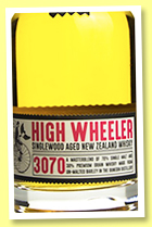 High Wheeler 21 yo '3070' (43%, OB, blend, New Zealand Whisky Company, 2017)