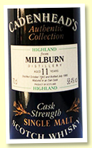 Millburn 11 yo 1983/1995 (58.4%, Cadenhead Authentic Collection, Sherry)