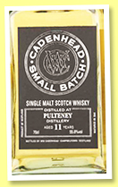 Pulteney 11 yo 2006/2017 (55.8%, Cadenhead, Small Batch, two bourbon hogsheads)