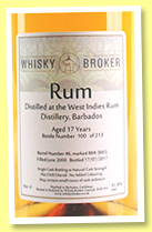 West Indies Rum Distillery 17 yo 2000/2017 (51.8%, Whiskybroker, Barbados, barrel #46, 213 bottles)