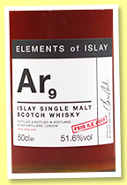 Ar9 (51.6%, Specialty Drinks, Elements of Islay, Feis Isle 2017, 1st fill oloroso)