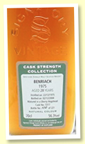 Benriach 28 yo 1975/2004 (56.3%, Signatory Vintage, Cask Strength Collection, sherry hogshead, cask #7217, 221 bottles)