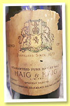 Haig & Haig (OB, blend, USA, late 19th century)
