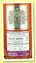 Irish 14 yo 2003/2018 (50.5%, Exclusive Malts for The Whisky Barrel, Irish single malt, refill sherry hogshead, cask #200503, 264 bottles)