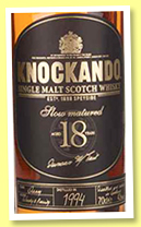 Knockando 18 yo 1994 'Slow Matured' (43%, OB, +/-2012)
