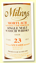 Mortlach 23 yo 1974/1997 (50.3%, Milroys Of Soho)