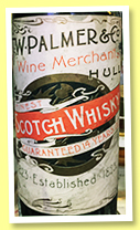 W. Palmer Finest Scotch Whisky 14 yo (no ABV, W. Palmer & Co., Hull, 1920s?)