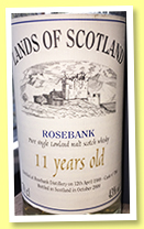 Rosebank 11 yo 1989/2000 (43%, Land of Scotland, cask #786)