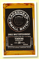 Tormore 30 yo 1984/2015 (55.8%, Cadenhead Small Batch, 432 bottles)