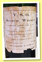 V.S.O. 10 yo (90 proof, Charles Mackinlay & Co., bottled 1917)