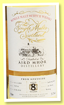 Aird Mhor 8 yo 2009/2018 (55.3%, The Single Malts of Scotland, cask # 707910, 261 bottles)
