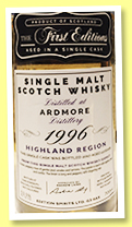 Ardmore 1996/2017 (53.5%, The First Editions, refill hogshead, 90 bottles)