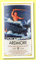 Ardmore 9 yo (60.10%, Chorlton Whisky, bourbon barrel, 153 bottles)
