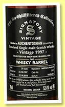 Auchentoshan 21 yo 1997/2018 (52.4%, Signatory Vintage for The Whisky Barrel, refill sherry hogshead, cask #2911, 168 bottles)