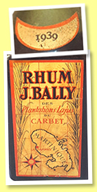 J. Bally 1939 (45%, OB, Martinique, agricole, +/-1970)
