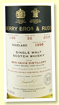 Ben Nevis 22 yo 1996/2018 (53.8%, Berry Brothers for Royal Mile Whiskies, cask #1196, refill butt)