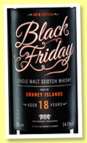 Black Friday 18 yo 'Orkney' (54.6%, The Whisky Exchange, 2018)