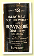 Bowmore 13 yo (80 proof, Cadenhead miniature, 1970s)