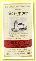 Bowmore 14 yo 1998/2012 (54%, Whisky-Doris, bourbon)