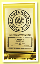 Cambus 29 yo 1988/2018 (45.4%, Cadenhead, Single Cask, hogshead, 294 bottles)