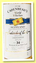Cameronbridge 34 yo 1984/2018 (50.3%, Cadenhead, World Whiskies, bourbon hogshead, 180 bottles)