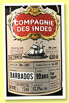 Four Square 10 yo 2007/2018 (62.9%, Compagnie des Indes for Salon du Rhum Belgique, Barbados, cask #BF019, 246 bottles)