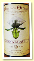 Glenallachie 9 yo (59.3%, Jack Wiebers 'World Of Orchids', cask #3004, bourbon, 264 bottles)
