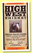 High West 'American Prairie Reserve' (46%, OB, USA, bourbon, +/-2018)
