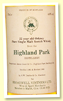 Highland Park 22 yo 1961/1983 (46%, Duthie's for Broadwell Vintner's Ltd)