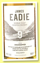 Inchgower 9 yo 2008/2018 (46%, James Eadie, first fill bourbon barrel, casks #808846+808851)