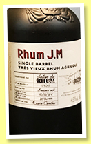 Rhum J.M 18 yo 1999/2018 (44.53%, OB, for 5eme Salon du Rhum de Belgique, American oak, 245 bottles)
