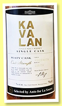 Kavalan 'Peaty Cask' (57.8%, OB for La Source, cask #R100104017A, 114 bottles, 2018)