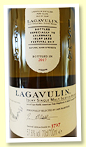 Lagavulin 'Jazz Festival 2017' (57.6%, OB, refill American oak hogsheads and refill European oak butts, 6000 bottles)