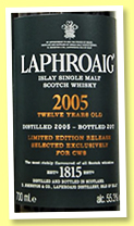 Laphroaig 12 yo 2005/2017 (55.3%, OB, for CWS China, 340 bottles)