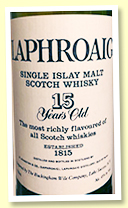 Laphroaig 15 yo (45%, OB, Buckingham Wile Co Lake Success NY, late 1980s)