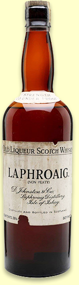 Laphroaig 'Non Peaty' Old Liqueur Scotch Whisky (80 proof, OB, 1940s)