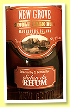 New Grove 2007/2017 (59.7%, OB for Salon du Rhum Belgique, Mauritius, cask # 428-17, 167 bottles)