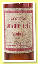 Otard 1917 (68°proof, Threlfalls Liverpool, UK, 1960s)