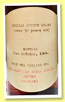 Special Scotch Whisky 50 yo (79.4° proof, Strachan's of Royal Deeside, bottled 1968)