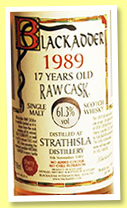 Strathisla 1989/2002 (61.3%, Blackadder, Raw Cask, sherry oak, cask #9411, 278 bottles)