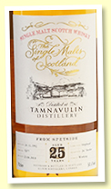 Tamnavulin 25 yo 1992/2018 (50.6%, Elixir Distillers 'Single Malts of Scotland', cask #5377, hogshead, 247 bottles)