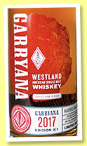 Westland 'Garryana Edition 2/1' (50%, OB, USA, single malt, 2600 bottles, 2017)